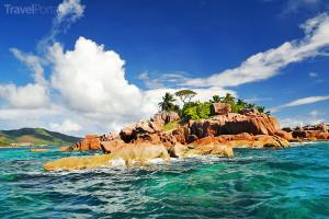 ostrůvek na Seychelách