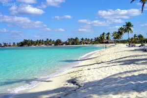 pláž na ostrůvku Cayo Sabinal