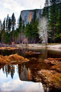 vodopád Horsetail Falls v Kalifornii