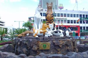 kočky v Kuchingu