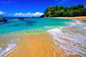 pláž na ostrově Kauai