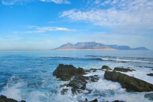 pohled na Robben Island z Kapského města