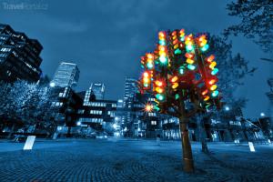 Traffic Lights Tree v Londýně