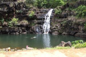 malý vodopád na ostrově Kauai