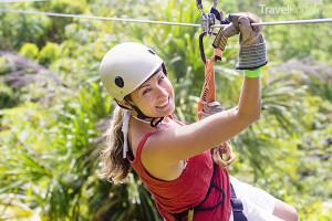 zipline na ostrově Jamajka