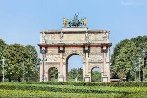 pařížský oblouk Arc de Triomphe du Carrousel