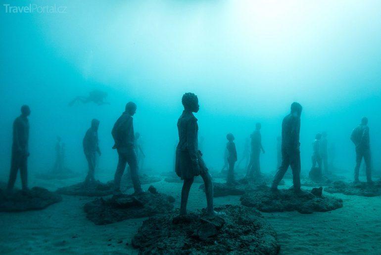 podvodní muzeum Lanzarote