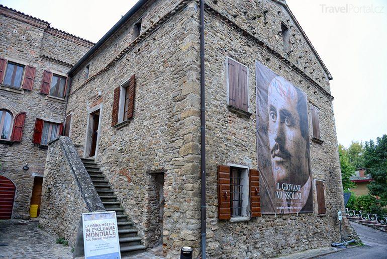 rodný dům Benita Mussoliniho