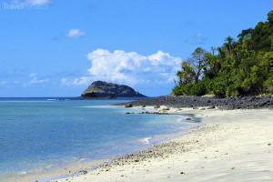pláž na Mayotte
