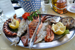 jídlo na ostrově Karpathos