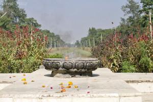 věčný oheň v Lumbini