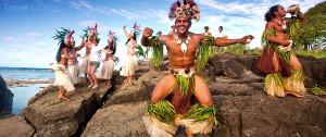 tanečníci na Cookových ostrovech