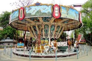 kolotoč v parku Tivoli