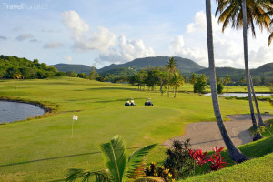 golfové hřiště na ostrově Martinik