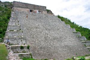 Velká pyramida ve městě Uxmal
