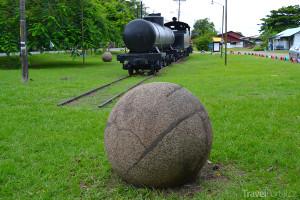 kulatý kámen v Kostarice