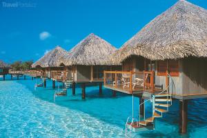 bungalovy na ostrově Bora Bora