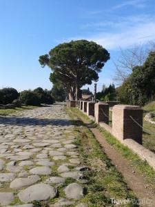 chodník ve městě Ostia Antica