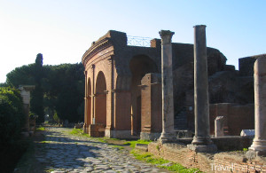 divadlo ve městě Ostia Antica