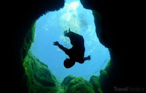 potápěč v Jákobově studně