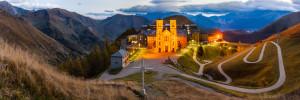 klášter La Salette večer