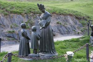 sochy u kláštera La Salette