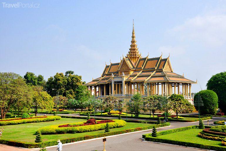 Královský palác ve městě Phnompenh
