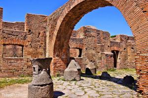 ruiny města Ostia Antica