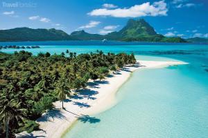 pláž na Tahiti