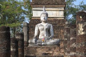 Buddha v chrámu Wat Trapang Ngoen