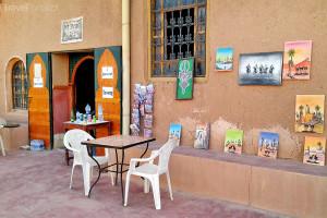 kavárna v Ait Ben Haddou