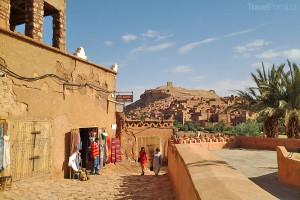 turistické obchody v Ait Ben Haddou