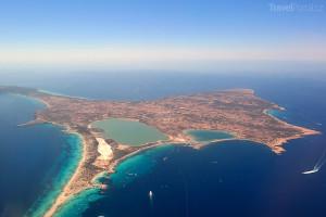 pohled na ostrov Formentera