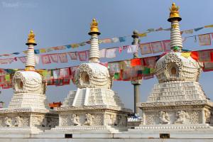 buddhistické stúpy u kláštera Dazhao