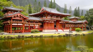 kopie buddhistického chrámu Bjódóin