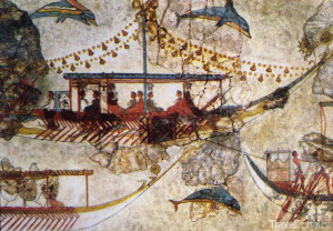 freska na Santorini