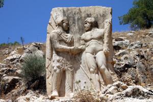 reliéf ve starověkém městě Arsameia