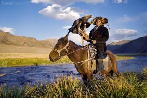 Kazach na lovu lišek a vlků