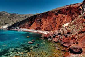 pláž na Santorini