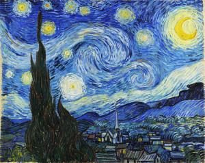 Hvězdná noc od Vincenta van Gogha
