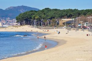 pláž ve městě Vigo