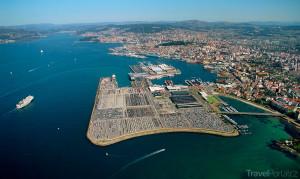 město Vigo z výšky