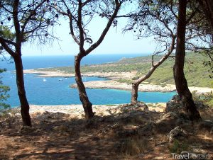 pobřeží Porto Selvaggio