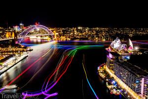 Sydney během festivalu světla