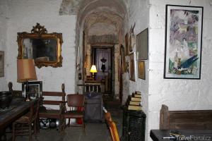 interiér hradu Leap