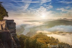 výhled z hradu Königstein