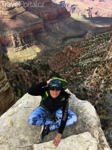 Markéta Schusterová v Grand Canyonu