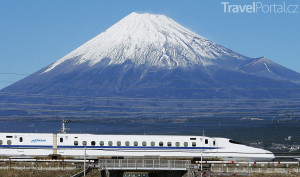 Šinkansen poblíž Fudži
