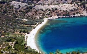 pláž na ostrově Chios
