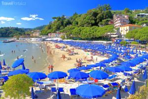 pláž v Itálii